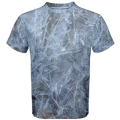 Watery Ice Sheets Men s Cotton Tees by trendistuff