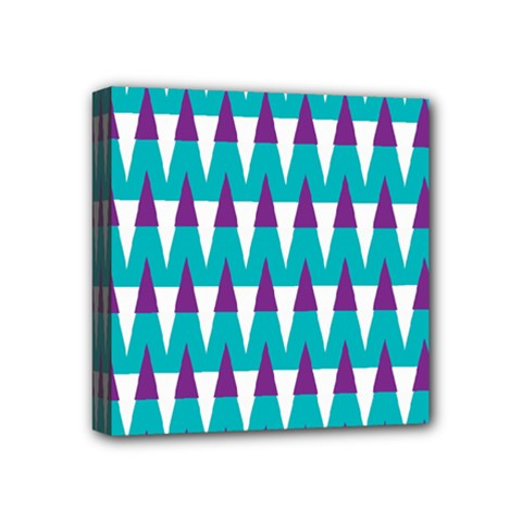 Peaks Pattern Mini Canvas 4  X 4  (stretched) by LalyLauraFLM