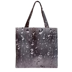 Water Drops 4 Zipper Grocery Tote Bags by trendistuff