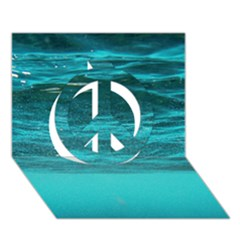 Underwater World Peace Sign 3d Greeting Card (7x5)  by trendistuff