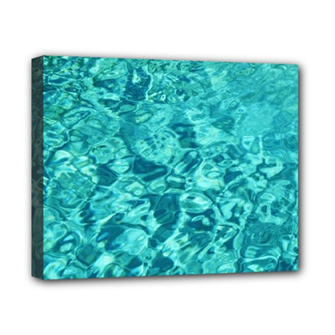 Turquoise Water Canvas 10  X 8  by trendistuff