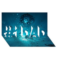 Sun Bubbles #1 Dad 3d Greeting Card (8x4)