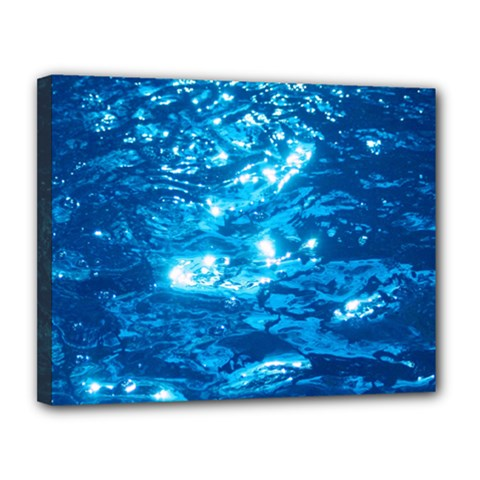 Light On Water Canvas 14  X 11  by trendistuff