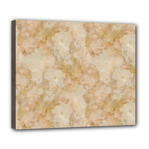 Tan Marble Deluxe Canvas 24  X 20   by trendistuff