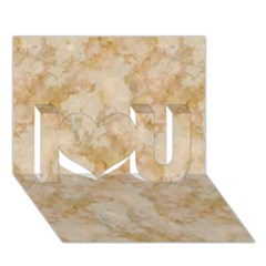 Tan Marble I Love You 3d Greeting Card (7x5)  by trendistuff