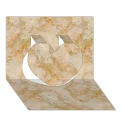 Tan Marble Heart 3d Greeting Card (7x5)  by trendistuff