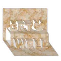 Tan Marble Get Well 3d Greeting Card (7x5)  by trendistuff