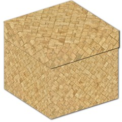 Tan Diamond Brick Storage Stool 12   by trendistuff