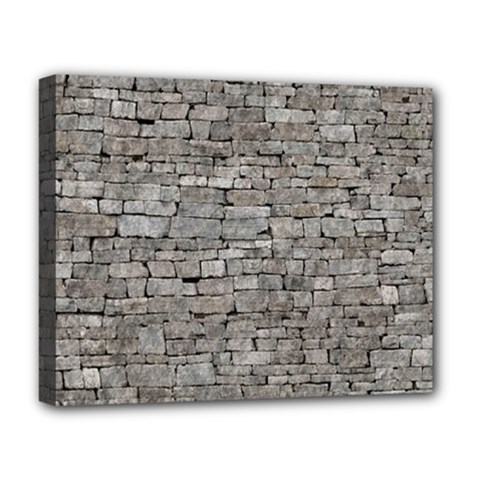 Stone Wall Grey Deluxe Canvas 20  X 16   by trendistuff