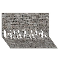Stone Wall Grey Engaged 3d Greeting Card (8x4)  by trendistuff