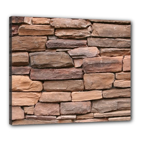 Stone Wall Brown Canvas 24  X 20  by trendistuff