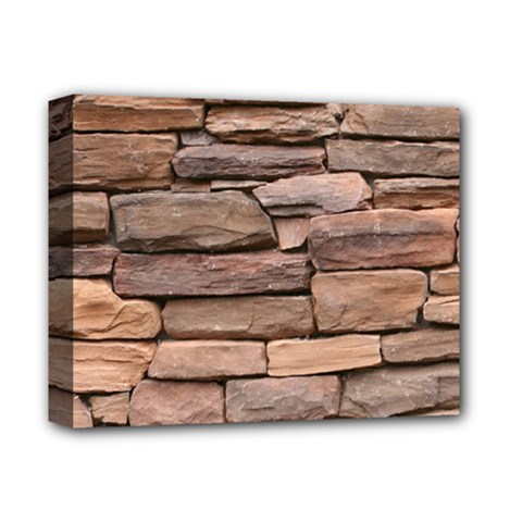 Stone Wall Brown Deluxe Canvas 14  X 11  by trendistuff
