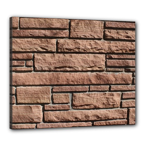 Sandstone Brick Canvas 24  X 20  by trendistuff
