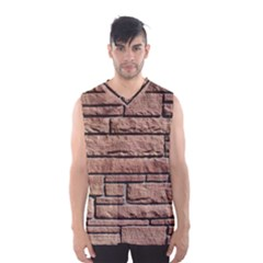 Sandstone Brick Men s Basketball Tank Top by trendistuff