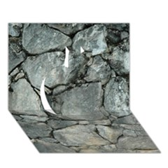 Grey Stone Pile Apple 3d Greeting Card (7x5)  by trendistuff