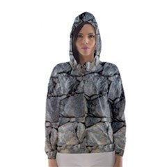 Grey Stone Pile Hooded Wind Breaker (women) by trendistuff