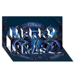 Ems Blue Merry Xmas 3d Greeting Card (8x4)  by allthingseveryday