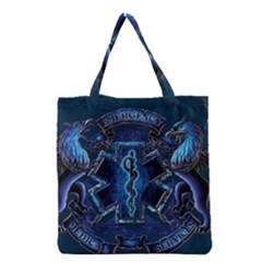 Ems Blue Grocery Tote Bags by allthingseveryday