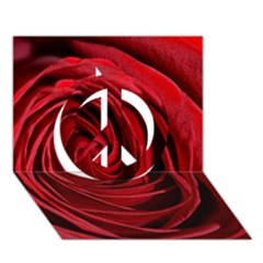 Beautifully Red Peace Sign 3d Greeting Card (7x5)  by timelessartoncanvas