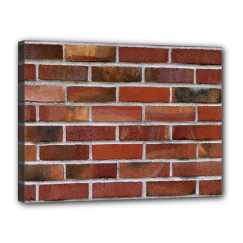 Colorful Brick Wall Canvas 16  X 12  by trendistuff