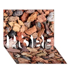 Colored Rocks Hope 3d Greeting Card (7x5)  by trendistuff