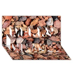 Colored Rocks Merry Xmas 3d Greeting Card (8x4)