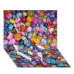 Colored Pebbles Love Bottom 3d Greeting Card (7x5)  by trendistuff