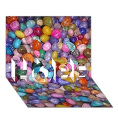 Colored Pebbles Hope 3d Greeting Card (7x5)  by trendistuff