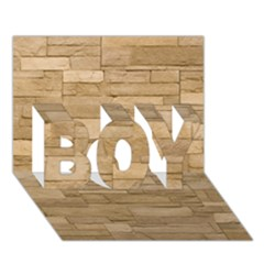 Block Wall 2 Boy 3d Greeting Card (7x5) by trendistuff