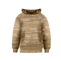 Block Wall 2 Kid s Pullover Hoodies by trendistuff