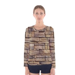 Block Wall 1 Women s Long Sleeve T Shirts by trendistuff