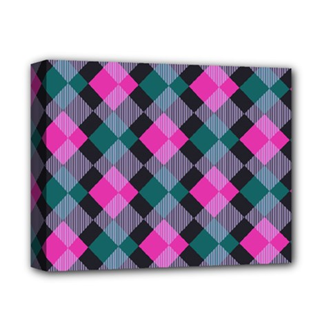 Argyle Variation Deluxe Canvas 14  X 11  (stretched) by LalyLauraFLM