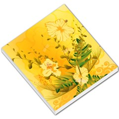 Wonderful Soft Yellow Flowers With Dragonflies Small Memo Pads by FantasyWorld7