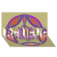 Mandala Believe 3d Greeting Card (8x4)  by Valeryt