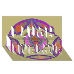 Mandala Laugh Live Love 3d Greeting Card (8x4)  by Valeryt