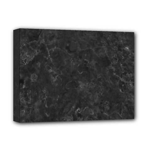 Black Marble Deluxe Canvas 16  X 12   by trendistuff