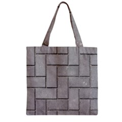 Alternating Grey Brick Zipper Grocery Tote Bags by trendistuff