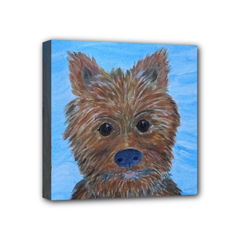 Puppy Pals Mini Canvas 4  X 4  (framed) by JDDesigns