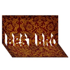 Royal Red And Gold Best Bro 3d Greeting Card (8x4)  by trendistuff