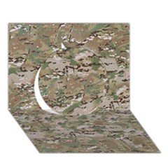 Camo Woodland Faded Circle 3d Greeting Card (7x5)  by trendistuff