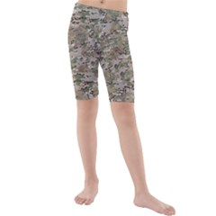 Camo Woodland Faded Kid s Mid Length Swim Shorts by trendistuff