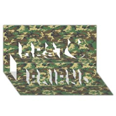Camo Woodland Best Friends 3d Greeting Card (8x4)  by trendistuff