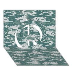 Camo Digital Urban Peace Sign 3d Greeting Card (7x5)