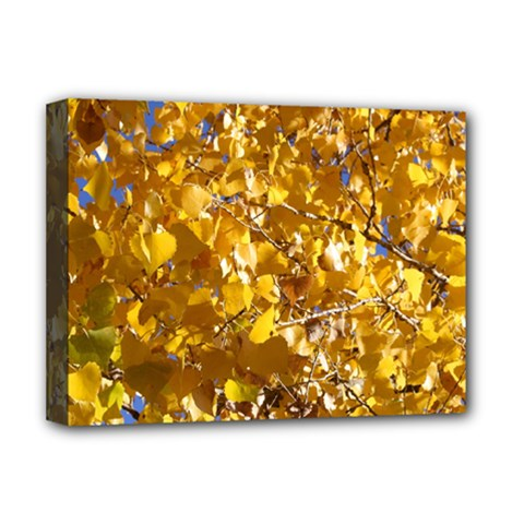 Yellow Leaves Deluxe Canvas 16  X 12   by trendistuff