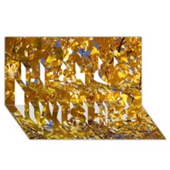Yellow Leaves Best Wish 3d Greeting Card (8x4)