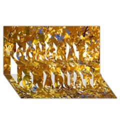 Yellow Leaves Congrats Graduate 3d Greeting Card (8x4)  by trendistuff