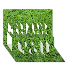 Green Grass 2 Thank You 3d Greeting Card (7x5)  by trendistuff