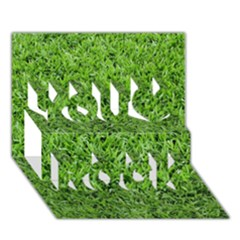 Green Grass 2 You Rock 3d Greeting Card (7x5)  by trendistuff