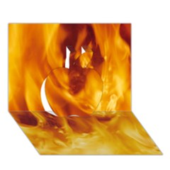 Yellow Flames Apple 3d Greeting Card (7x5)  by trendistuff
