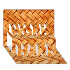 Woven Straw Work Hard 3d Greeting Card (7x5)
